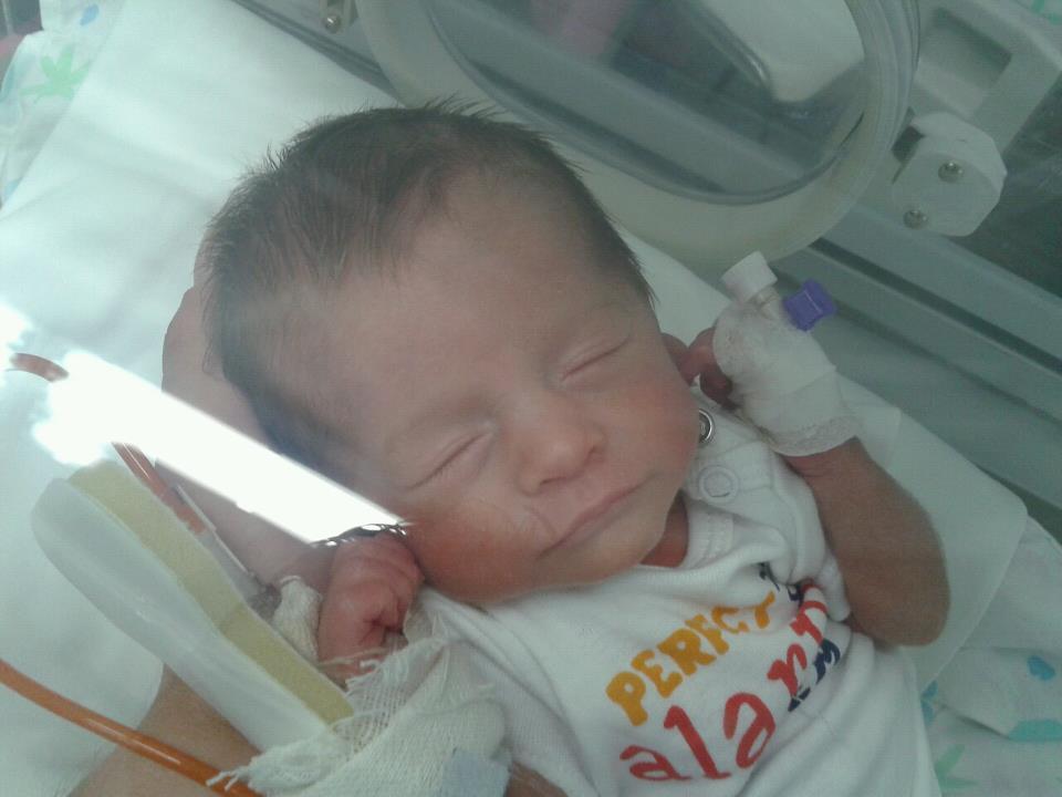 Ludovica in incubatrice